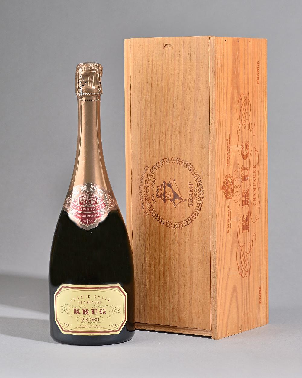 Lot 184 - One bottle 1989 Krug champagne.
