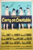 FILM POSTER: 'CARRY ON CONSTABLE' (1960): UK Bus Stop poster,