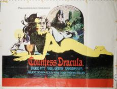 FILM POSTERS, HORROR: a group of five UK Quad posters, loose sheets,