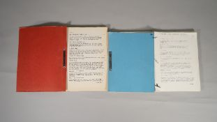 JAMES BOND, 'NEVER SAY NEVER AGAIN' SCRIPTS: a group of three film production scripts, 1982,