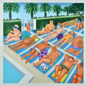Beryl Cook (1926-2008), Tenerife Days, colour reproduction, signed and numbered 115/300,