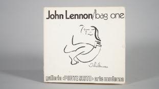 JOHN LENNON, BAG ONE, 'PONTE SISTO' GALLERY, ROME,