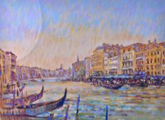 Geoff Marsters (20th Century), Venice Light; View on the Thames, two, pastel,