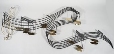 CURTIS JERE, A SIGNED MUSICAL WALL SCULPTURE,