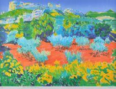 Frederick Gore (1913-2009), Olive trees, Les Baux; Lavender,