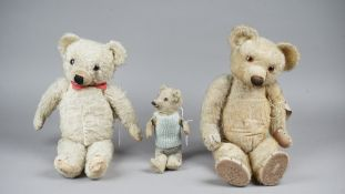 A Merrythought stuffed teddy bear, pre-war, with golden fur and jointed limbs, 50cm high,