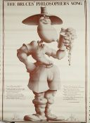 TERRY GILLIAM (1940 - ) MONTY PYTHON: a programme style poster for Monty Python's 1st Farewell