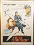FILM POSTERS: two Indian version film posters, pasted on board, includes, 'Foreign Correspondent',