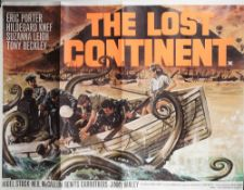 FILM POSTERS: 'THE LOST CONTINENT' (1968) AND 'McLINTOCK (1963) a pair of UK Quad posters,