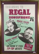 REGAL ZONOPHONE: 'TOP OF THE BILL' RECORDING ARTISTS' POSTERS, ca, 1950s.
