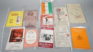 THEATRE PROGRAMMES, 1930s - 1970: a collection of approx.