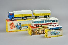Three Dinky die-cast vehicles, comprising; 917 Mercedes-Benz Truck and Trailer,