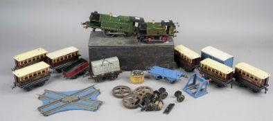 A Hornby O gauge clockwork locomotive, GWR 2221, another pre-war Hornby O gauge locomotive GWR 6600,