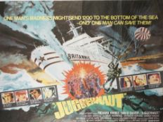 FILM POSTERS, DISASTER MOVIES: a group of six UK Quad posters, loose sheets,