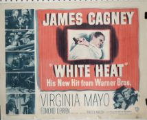 FILM POSTERS: 'REACH FOR THE SKY' (1956) AND 'WHITE HEAT (1949): a pair of posters, linen backed,