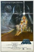 FILM POSTER: 'STAR WARS: EPISODE IV: A NEW HOPE' (1977) Paramount Pictures, Style A, One Sheet,