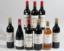 Four bottles 1998 Chateau de la Nauve, three bottles of 1996 Chateau Caronne Ste-Gemme,