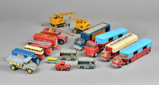 A quantity of Dinky and Corgi die-cast vehicles including;