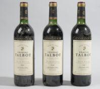 Three bottles of 1982 Chateau Talbot Saint Julien, (3).