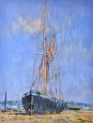 Geoff Marsters (20th Century), Phonican by the River Orwell; Barge and East Coast Smack; a pair,