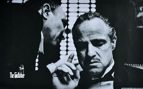 FILM, ART PRINTS: a group of four art prints on canvas, including Marlon Brando in 'The Godfather',