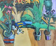 John Watson (20th century), The Garden Pond, oil on canvas, signed,