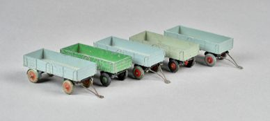 Five Dinky Foden trailers, (5).