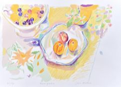 A group of three 20th century prints, including Jane Strother, Three Peaches,