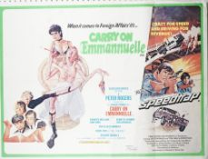 FILM POSTERS: a group of three 'Carry On' UK Quad film posters, includes 'Carry On Emmannuelle',