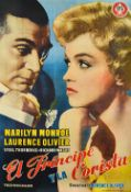 FILM POSTERS: two foreign version film posters, includes 'The Prince and the Showgirl',
