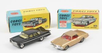 Two Corgi die-Cast vehicles, comprising; 245 Buick Riviera and a 223 Chevrolet 'State Patrol',