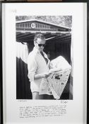 MARINA CICOGNA (1933 - ) DAVID NIVEN AT THE VENICE LIDO, ca.