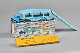 A Dinky Supertoys 982 Pullmore car transporter with detachable loading ramp, boxed, (2).