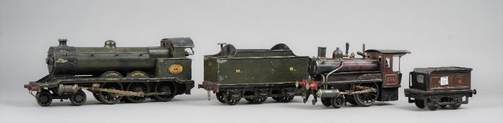 An early 20th century large scale steam locomotive and tender 'Cluny Castle' 4-6-0,