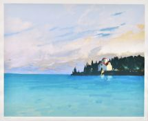 Donald Hamilton Fraser (1929-2009), Seascape composition; End of the Island and Beach at Noon,