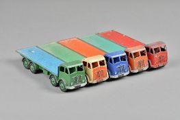 Five Dinky Foden flat bed trucks, (5).