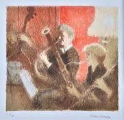 Bernard Dunstan (1920-2005), Interior, Vilervo; Shubert Quartet, two colour lithographs,