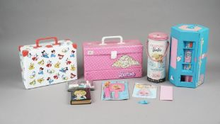 Vintage 'Barbie' doll accessories including; knitting, autograph book, dictionary 'dress up',