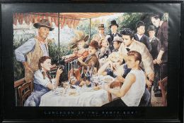 ART PRINT: 'Luncheon of the Party Boat' from a painting by George Bungarda, 1993,