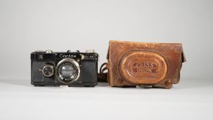 A CONTAX 1 ZEISS IKON 35mm CAMERA, 1935 / 1936, serial no. 46333, with Carl Zeiss Sonnar 50mm F.