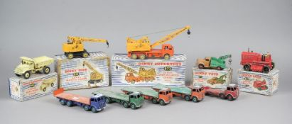 Five Dinky Foden flat head bed trucks, one lacking rear bed, (5).