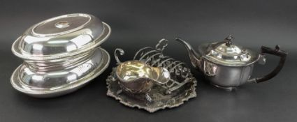A pair of George III style oval electrop