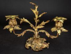 A Louis XV style gilt metal two light dw