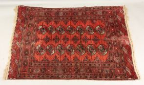 An Afgan Bokhara rug, with two rows of q