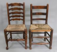 A set of four George III style ash and e