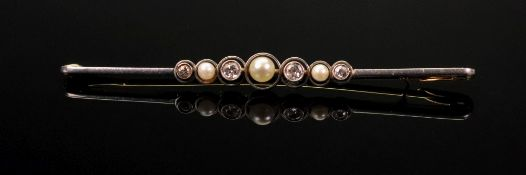 A cultured bouton pearl, seed pearl and