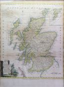 Thomas Kitchin; Scotland Divided into it's counties, engraved hand coloured map,