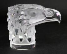 Lalique; a frosted glass Tete D'Aigle (E