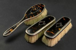 A pair of silver mounted tortoiseshell c