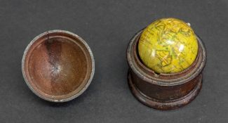 An early 19th century pocket globe, 3cm